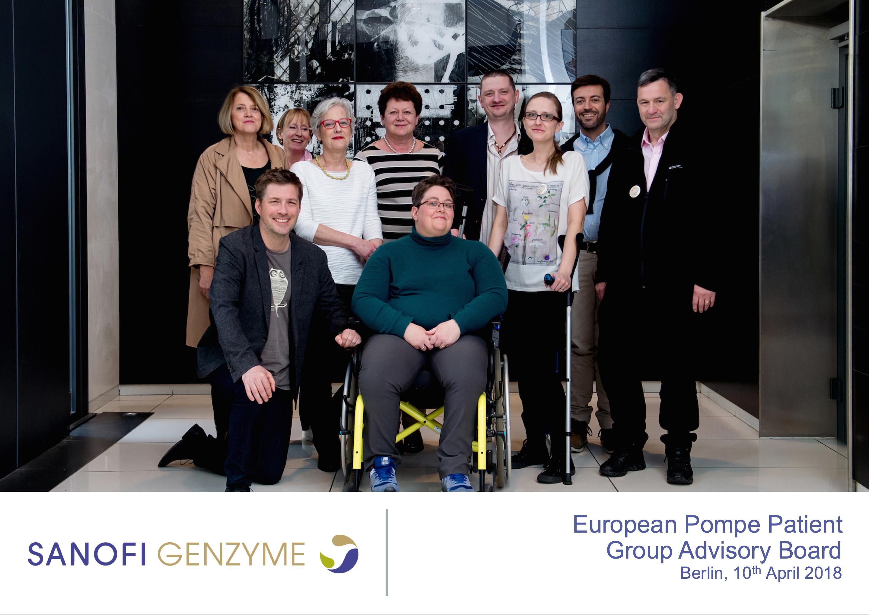 European-Pompe-Patient-Group-Advisory-Board-10-04-2018 Boeiende ontmoeting van adviesraad voor de ziekte van Pompe